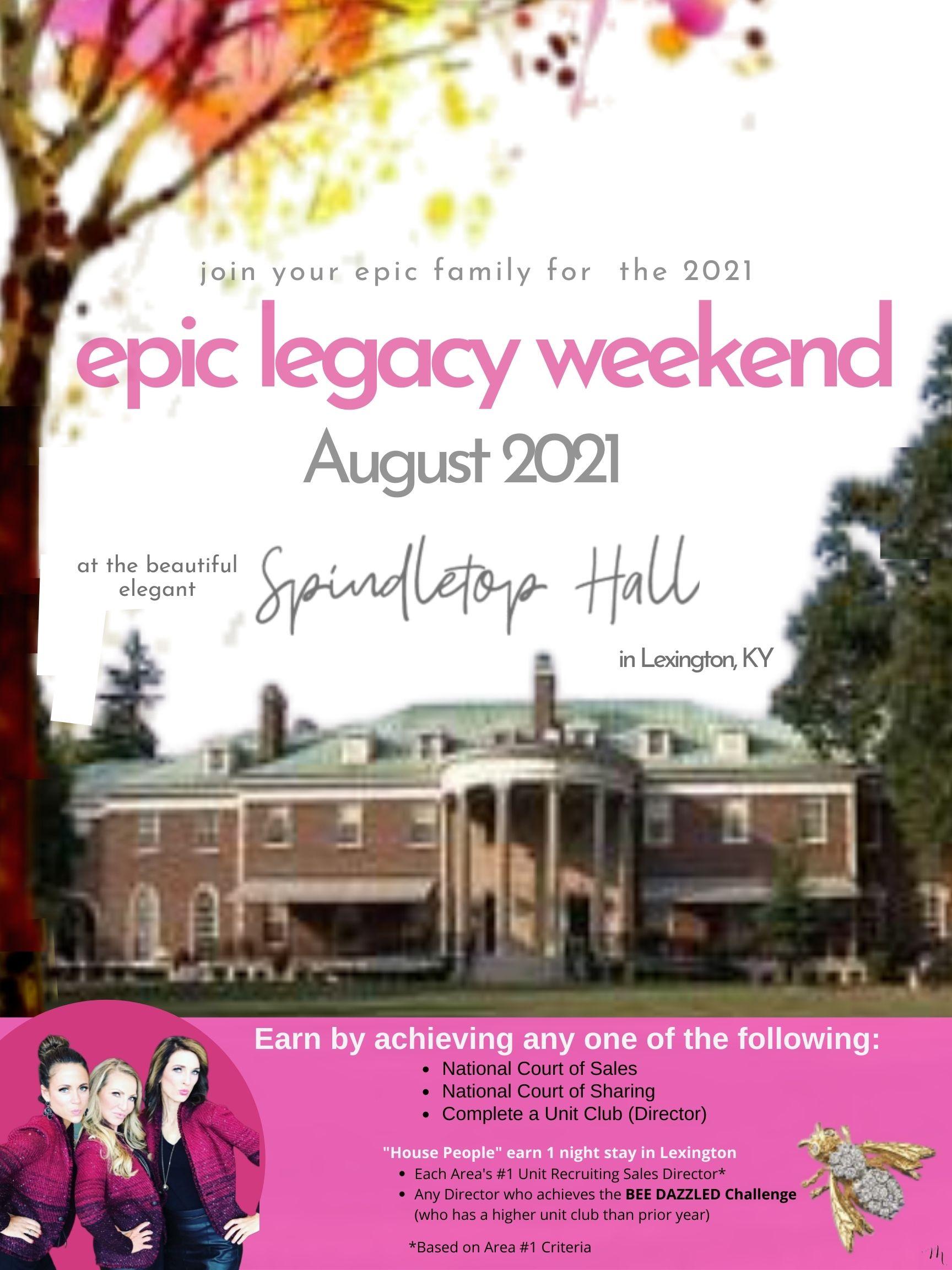 JB 2020 epic legacy weekend 82420 rev5